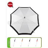 Paraguas individual de poliester bi-tono 8 varillas