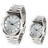 Reloj de pulso metalico y cristal mineral
