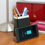 Porta lápices con cargador wireless