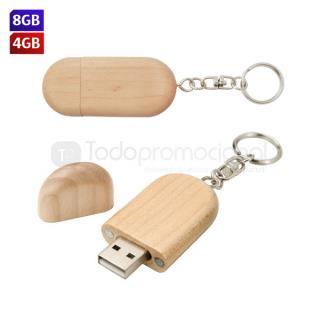 USB Llavero Wood | Articulos Promocionales