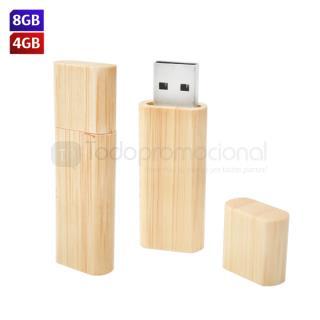 USB Bambú Rectangular   Articulos Promocionales