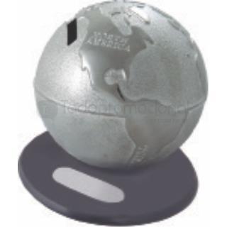 Alcancía metálica mundo | Articulos Promocionales