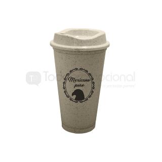 Vaso cafetero de fibra de agave | Articulos Promocionales