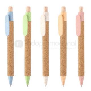 Bolígrafo retráctil en fibra de trigo | Articulos Promocionales